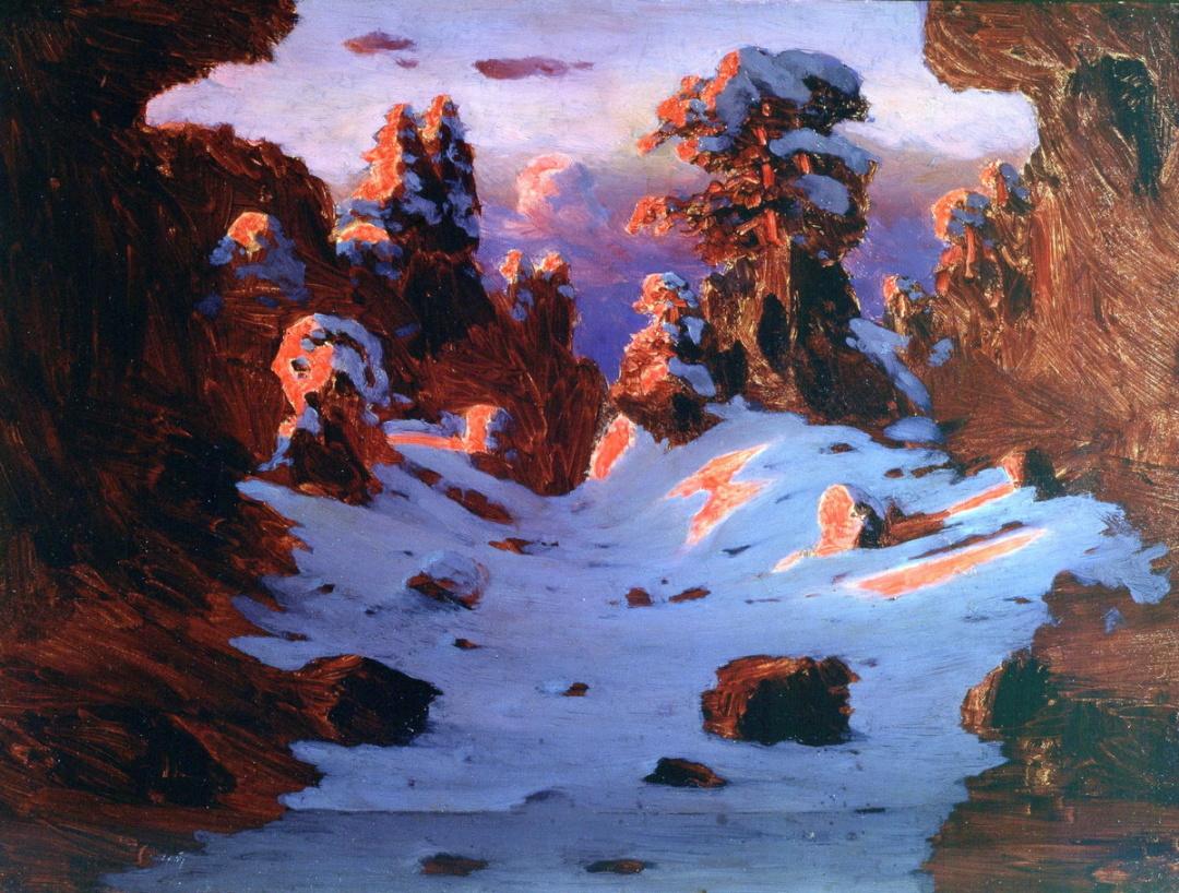 Ефект заходу сонця, 1885 р.