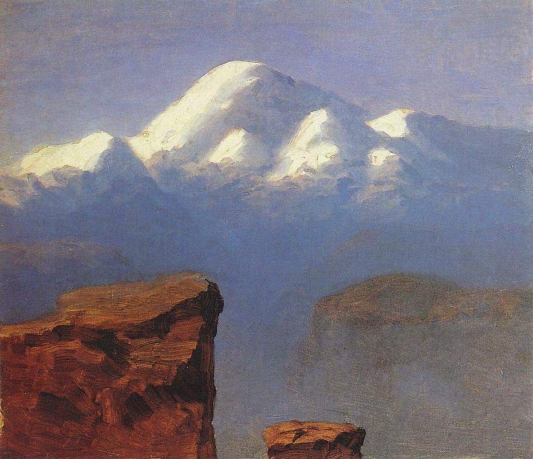 Вершина Єльбрусу, освітлена сонцем 1908 р.