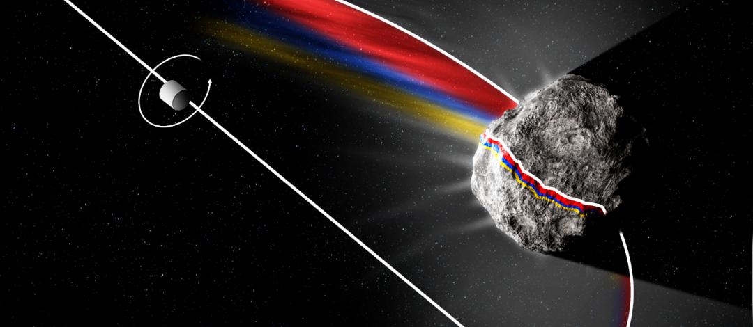 жлслідження структури комети на відстані