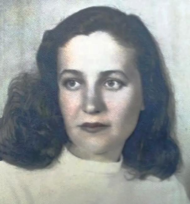 34-річна вдова Віра Георгіївна Лещенко, Москва, 1957 р.