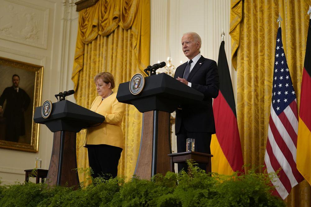 Ангела Меркель та Джо Байден / Фото: Alex Edelman/CNP