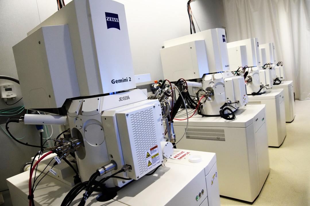електронно-скануючі мікроскопи проєкту