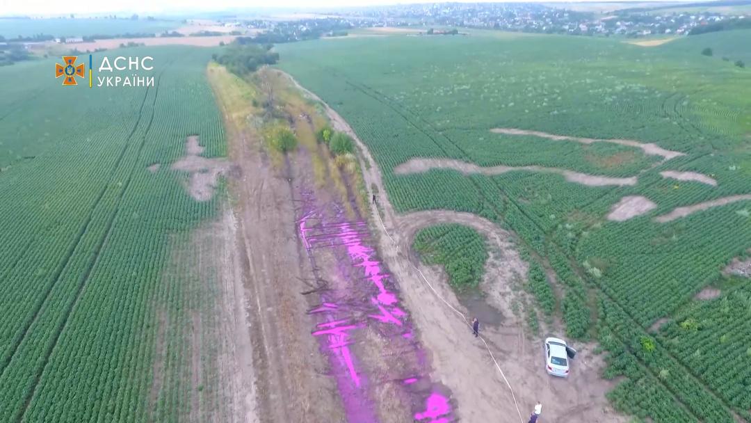 Под Ривне новая напасть - розовые лужи. В ГСЧС выяснили, что это за химия (ФОТО, ВИДЕО) 5
