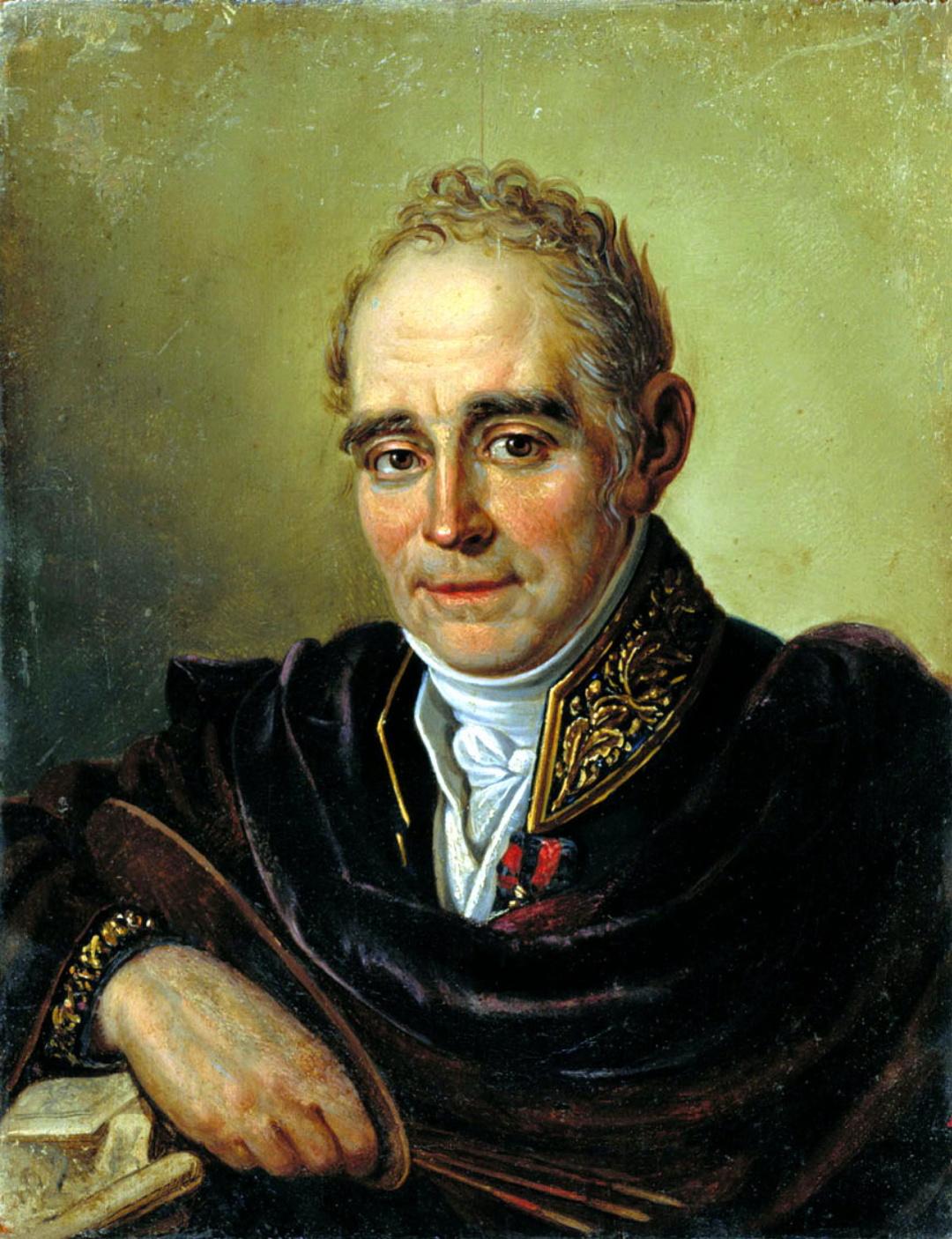 1-портрет В. Л. Боровиковського роботи Івана Бугаєвського-Благодатного, 1824 р.