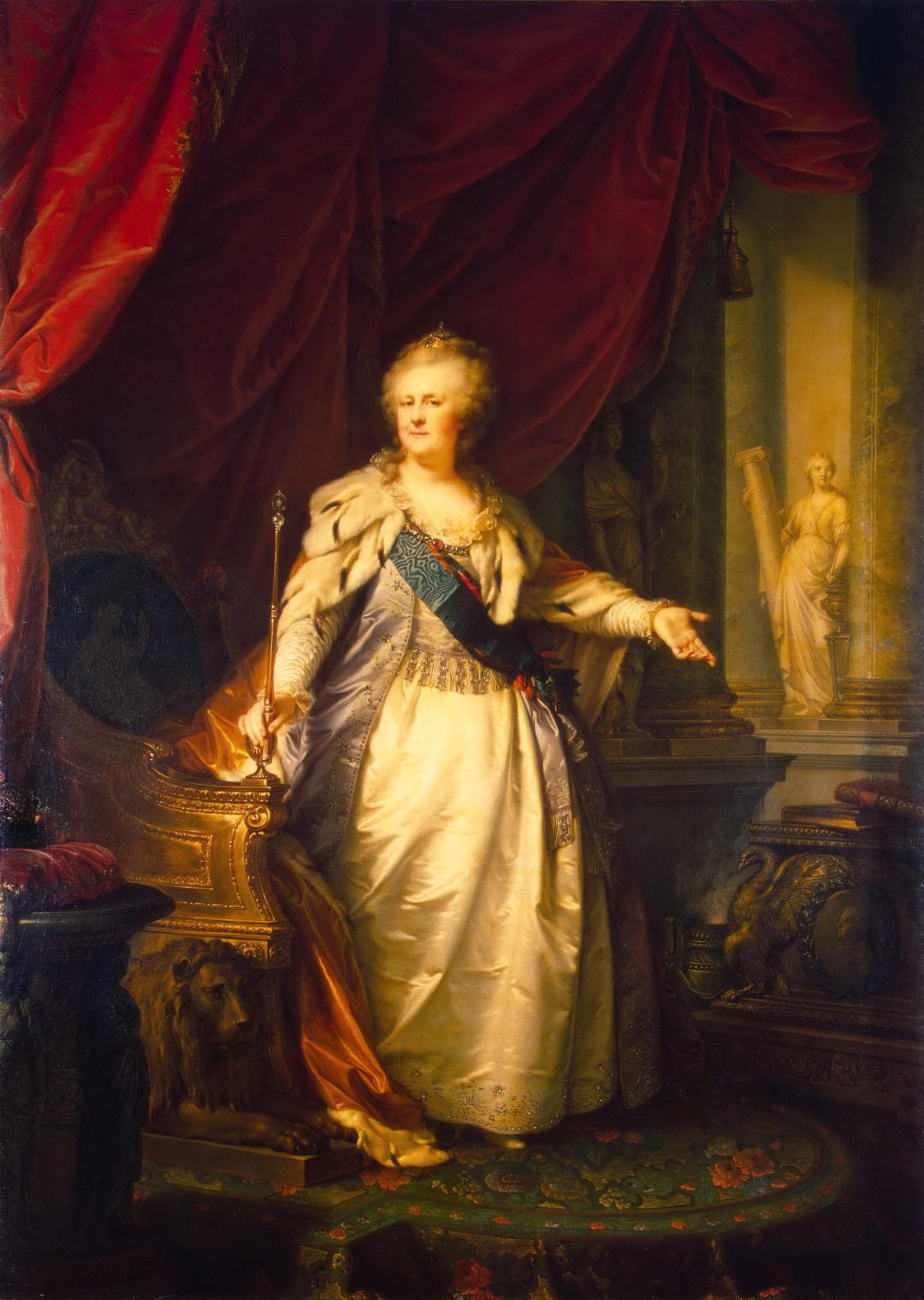 13-Йоґанн фон Лампі-старший. Портрет императриці Катерини II, 1793 р. 1
