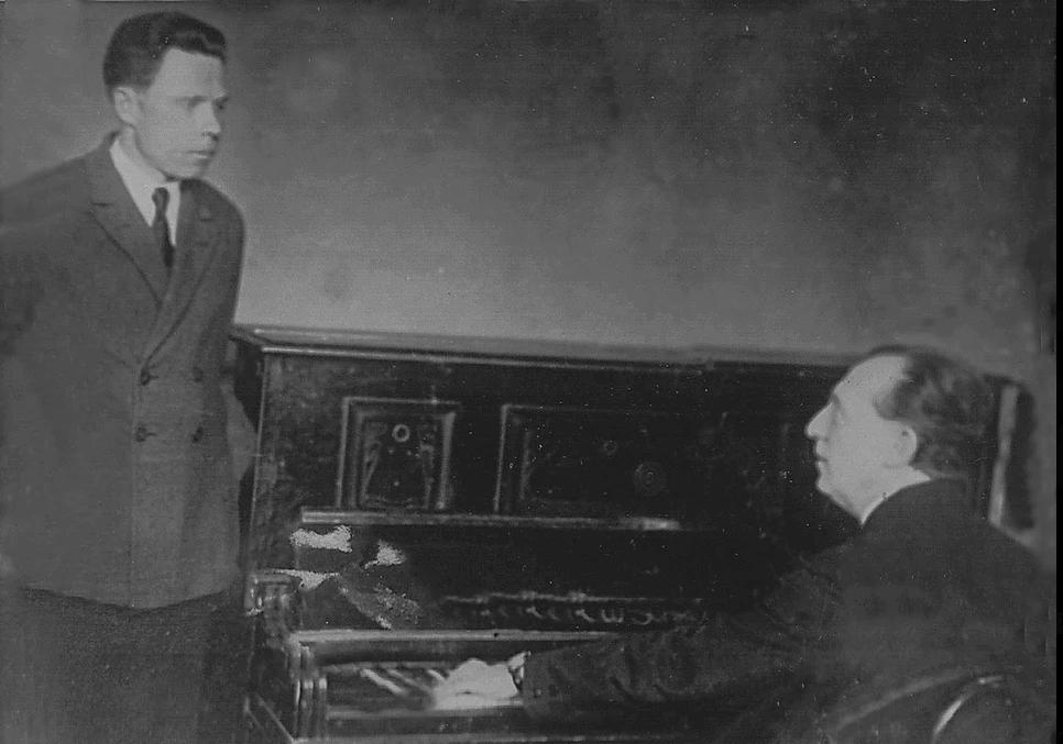 Борис Гмиря на уроці у професора Павла Васильовича Голубєва, 1934 р. 1