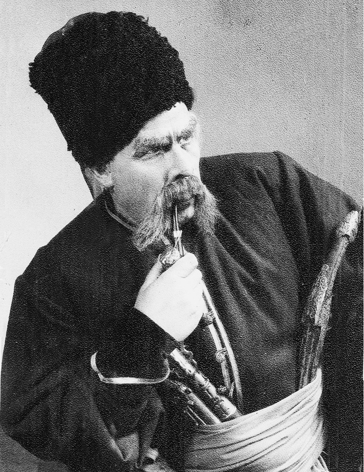 у ролі Тараса Бульби, Харків, друга роловина 1930-х рр. А