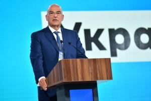 Nikos Dendias : La Grèce soutient l'indépendance, la souveraineté et l'intégrité territoriale de l'Ukraine dans ses frontières internationalement reconnues
