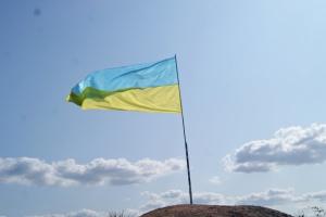 У річницю звільнення Лисичанська на найвищому териконі міста встановили прапор України