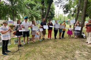 На Житомирщині провели мистецький флешмоб до 150-річчя Лесі Українки