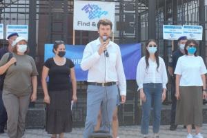 КримSOS під посольством РФ у Києві нагадав про насильницькі зникнення на півострові