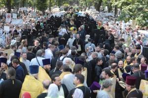 У Києві завершилася хресна хода УПЦ МП - поліція каже про 55 тисяч учасників