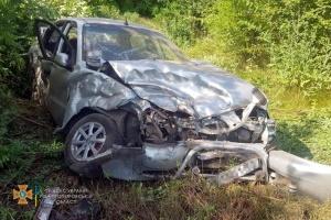 На Дніпропетровщині зіткнулися Volkswagen та Daewoo Lanos, п'ятеро постраждалих