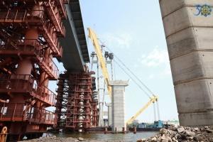 Запорожские мостостроители соединили левый берег Днепра с Хортицей