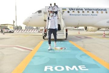 Euro 2021 : L'équipe nationale ukrainienne arrive à Rome pour affronter l'Angleterre