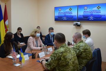 Kvien visits head office of Ukrainian Sea Guard in Odesa