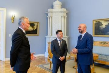 Litauen: Nauseda, Selenskyj und Michel sprechen über Östliche Partnerschaft, Reformen in der Ukraine, Krim