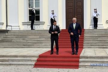 Zelensky, Steinmeier meet in Berlin