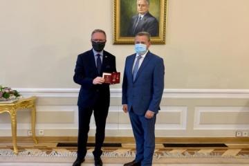 Poland's secretary of state presented with Ukrainian state award