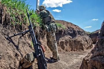 7月15日の露占領軍停戦違反8回、ウクライナ軍人5名負傷=統一部隊