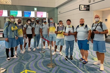 Los primeros representantes olímpicos de Ucrania llegan a Tokio