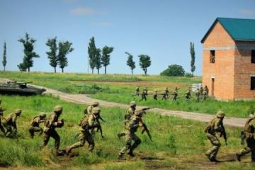 """Militares ucranianos y británicos practican el """"combate en un área urbanizada"""""""
