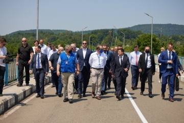 Zelensky gets acquainted with security situation on border with occupied Abkhazia