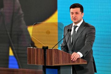 ウクライナ東部の平和は、非中央集権化ではなくロシアにかかっている=ゼレンシキー大統領