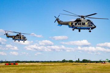 Independence Day Parade preparations: National Guard's helicopter crews do training flights over Kyiv