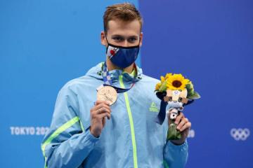 El nadador Mykhailo Romanchuk gana el bronce de los Juegos Olímpicos de Tokio