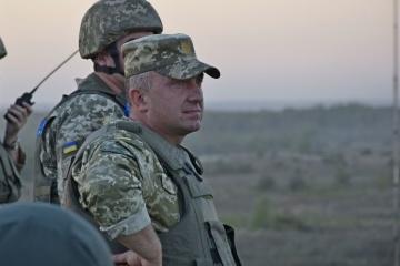 Zełenski w Awdijewce przedstawił nowego dowódcę Połączonych Sił