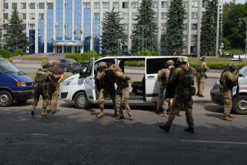 У Рівному пройшли антитерористичні навчання із озброєнням та спецтехнікою