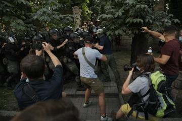 Поліція склала адмінпротоколи на 12 учасників сутичок під ОП