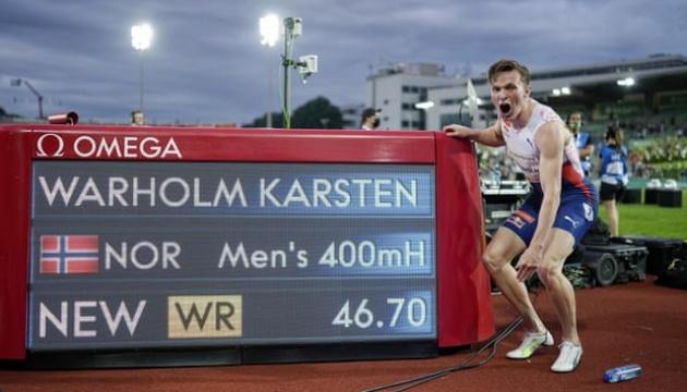 Норвежец Вархольм побил мировой рекорд в беге на 400 м с барьерами