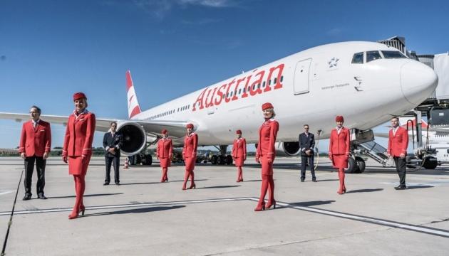 Austrian Airlines начала летать в Запорожье