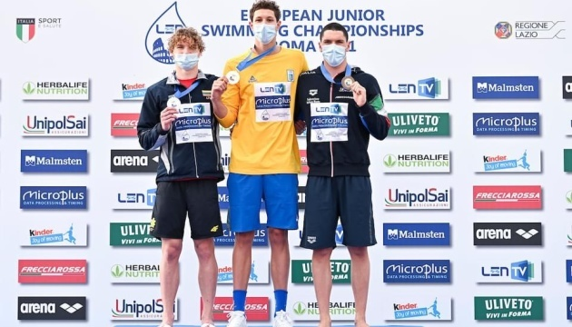 Украинский пловец Лисовец выиграл «золото» юниорского Евро-2021