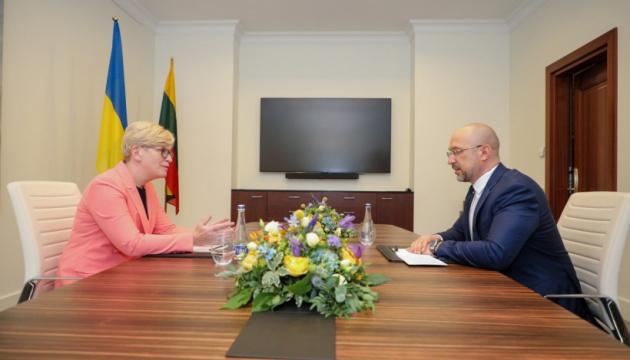 Шмигаль зустрівся з литовською прем'єркою