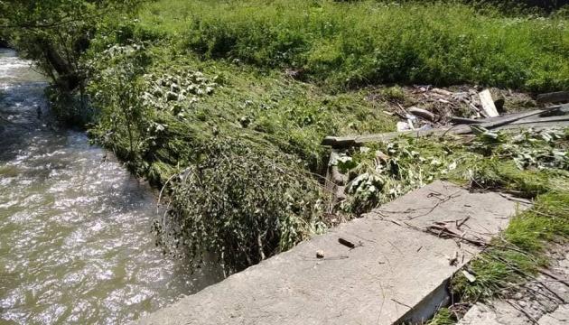На Прикарпатті зливи пошкодили під'їзди до чотирьох мостів
