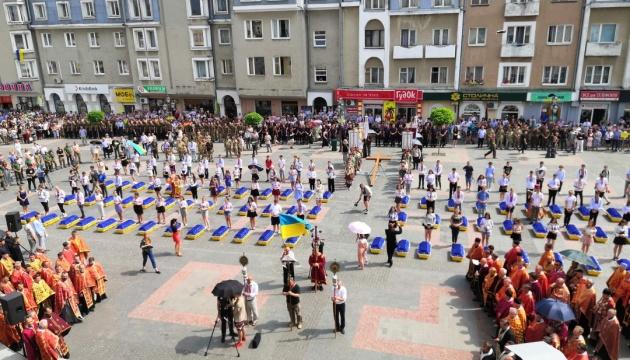 У Дрогобичі перепоховали останки 78 жертв НКВД