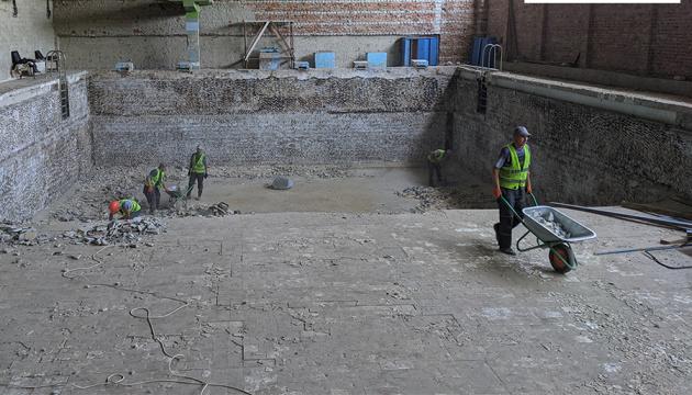 У Балаклії почали реконструкцію спортивного комплексу