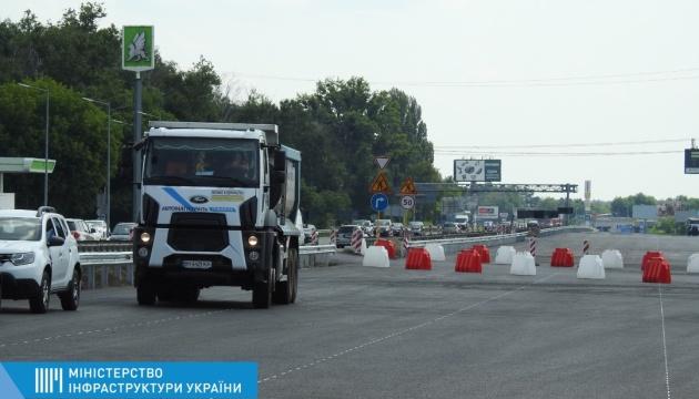 Правую сторону трассы Киев-Борисполь планируют открыть уже в эти выходные