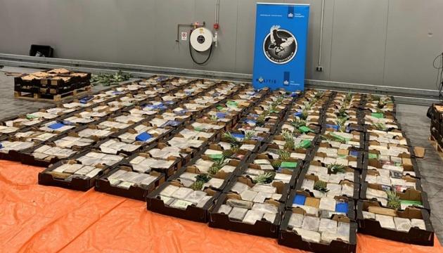У порту Роттердама знайшли понад півтори тонни кокаїну в контейнерах з ананасами та бананами