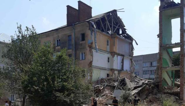 У Дрогобичі обвалилася частина будинку, де два роки тому загинули вісім мешканців