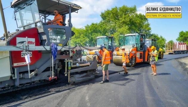 На Тернопольщине ремонтируют дорогу Н-18