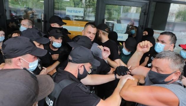 Під судом у справі білоруса Боленкова сталася сутичка - кидали яйця та розпилили газ