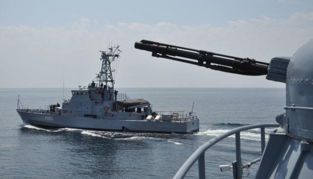 Экипаж ВМС Украины на пути в Грузию провел боевые учения в Черном море