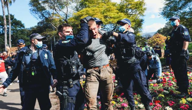 Під час протестів у Сіднеї сталися сутички з поліцією