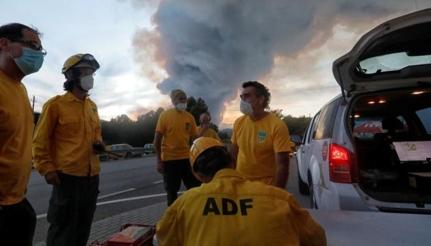 Лісові пожежі на півночі Іспанії охопили вже понад 1600 гектарів