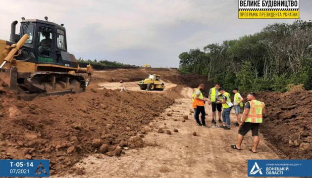 В Донецкой области ремонтируют дорогу Доброполье - Лиман
