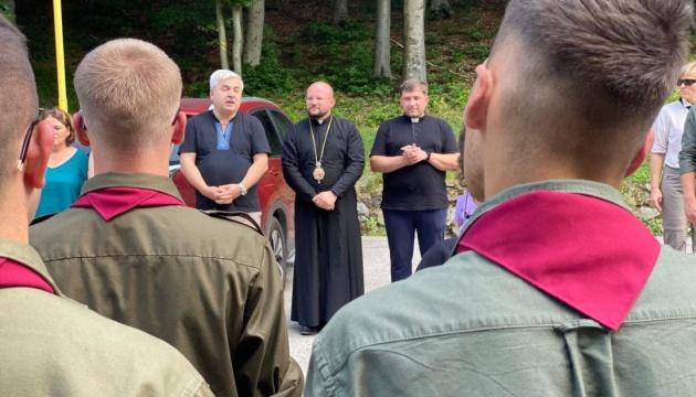 Представник УГКЦ разом з послом України відвідали у Словаччині табір пластунів